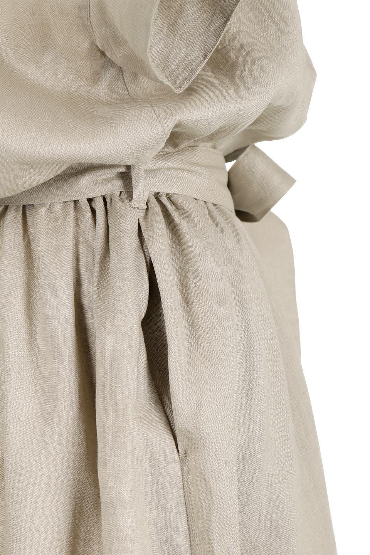 WaistRibbonLongLinenDress美シルエット・リネンワンピース大人カジュアルに最適な海外ファッションのothers(その他インポートアイテム)のワンピースやマキシワンピース。涼し気なリネン(麻)100%のロングワンピース。麻100%生地は吸湿速乾が特徴なので、暑い夏にもさらりと快適に着て頂けます。/main-18