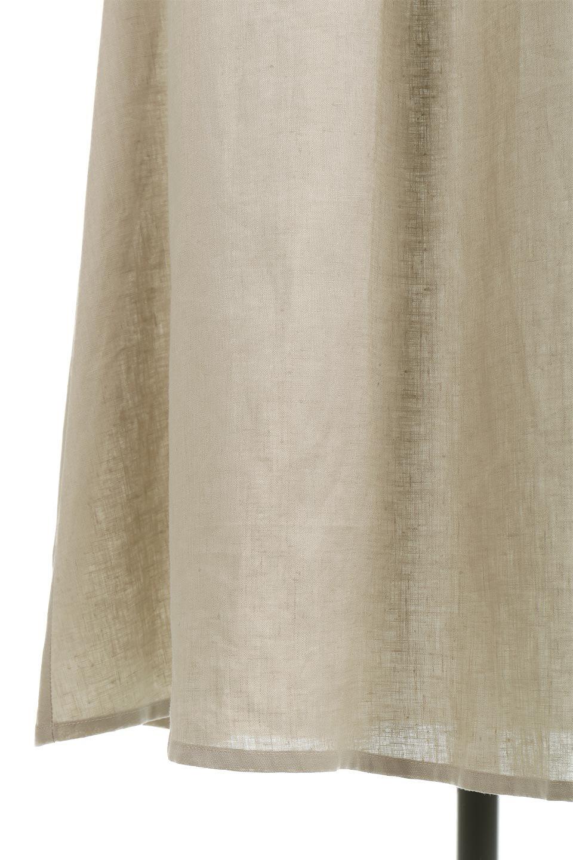 WaistRibbonLongLinenDress美シルエット・リネンワンピース大人カジュアルに最適な海外ファッションのothers(その他インポートアイテム)のワンピースやマキシワンピース。涼し気なリネン(麻)100%のロングワンピース。麻100%生地は吸湿速乾が特徴なので、暑い夏にもさらりと快適に着て頂けます。/main-19