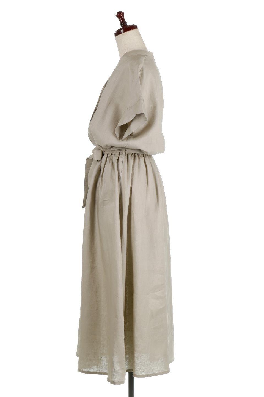 WaistRibbonLongLinenDress美シルエット・リネンワンピース大人カジュアルに最適な海外ファッションのothers(その他インポートアイテム)のワンピースやマキシワンピース。涼し気なリネン(麻)100%のロングワンピース。麻100%生地は吸湿速乾が特徴なので、暑い夏にもさらりと快適に着て頂けます。/main-2