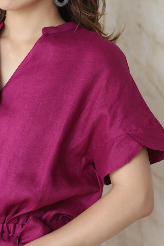 WaistRibbonLongLinenDress美シルエット・リネンワンピース大人カジュアルに最適な海外ファッションのothers(その他インポートアイテム)のワンピースやマキシワンピース。涼し気なリネン(麻)100%のロングワンピース。麻100%生地は吸湿速乾が特徴なので、暑い夏にもさらりと快適に着て頂けます。/main-23