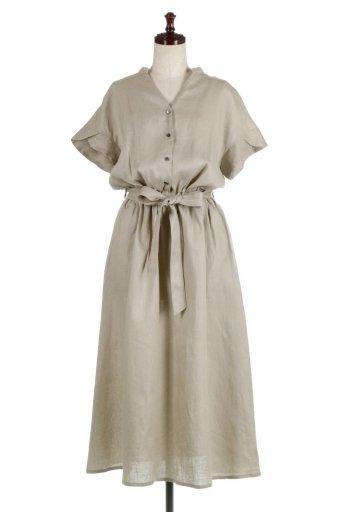Waist Ribbon Long Linen Dress 美シルエット・リネンワンピース / 大人カジュアルに最適な海外ファッションが得意な福島市のセレクトショップbloom