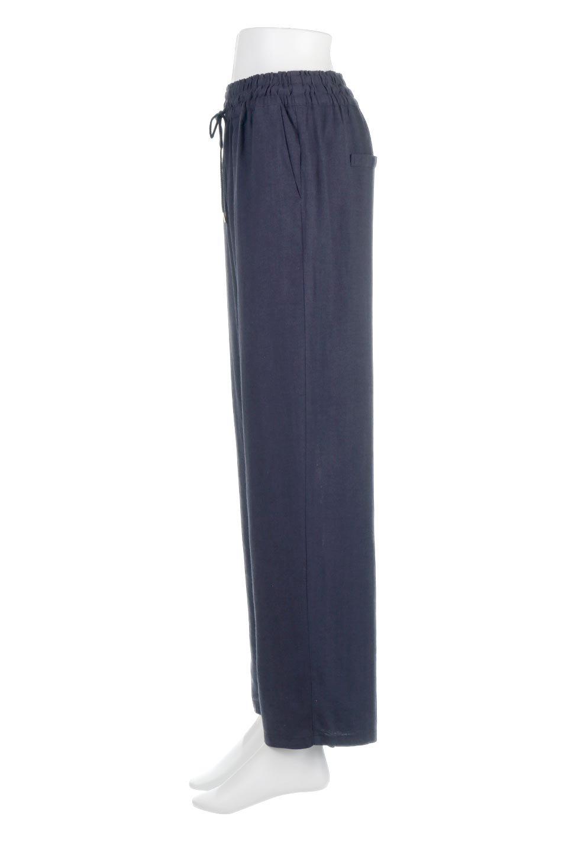 LinenMixWideLegPants麻混・イージーワイドパンツ大人カジュアルに最適な海外ファッションのothers(その他インポートアイテム)のボトムやパンツ。高品質フレンチリネンの素材を使ったリラックスワイドパンツ。麻混素材なので、シンプルなデザインですが、生地に表情があり素材そのものの風合いが楽しめます。/main-12