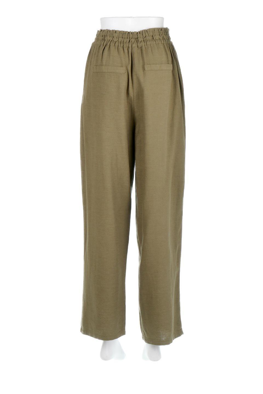 LinenMixWideLegPants麻混・イージーワイドパンツ大人カジュアルに最適な海外ファッションのothers(その他インポートアイテム)のボトムやパンツ。高品質フレンチリネンの素材を使ったリラックスワイドパンツ。麻混素材なので、シンプルなデザインですが、生地に表情があり素材そのものの風合いが楽しめます。/main-4