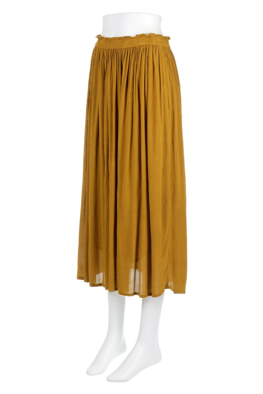ShinyGatheredMidiSkirtクレープレーヨン・ギャザースカート大人カジュアルに最適な海外ファッションのothers(その他インポートアイテム)のボトムやスカート。レーヨン混で薄くてなめらかな肌触り、微光沢のある生地感のスカート。クレープのような薄い生地がふんわり空気感のあるボリュームを演出します。/main-1