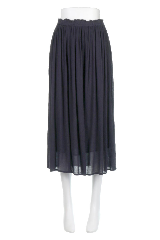 ShinyGatheredMidiSkirtクレープレーヨン・ギャザースカート大人カジュアルに最適な海外ファッションのothers(その他インポートアイテム)のボトムやスカート。レーヨン混で薄くてなめらかな肌触り、微光沢のある生地感のスカート。クレープのような薄い生地がふんわり空気感のあるボリュームを演出します。/main-10