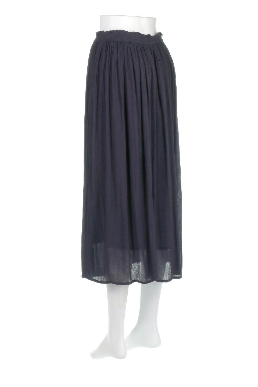 ShinyGatheredMidiSkirtクレープレーヨン・ギャザースカート大人カジュアルに最適な海外ファッションのothers(その他インポートアイテム)のボトムやスカート。レーヨン混で薄くてなめらかな肌触り、微光沢のある生地感のスカート。クレープのような薄い生地がふんわり空気感のあるボリュームを演出します。/main-13