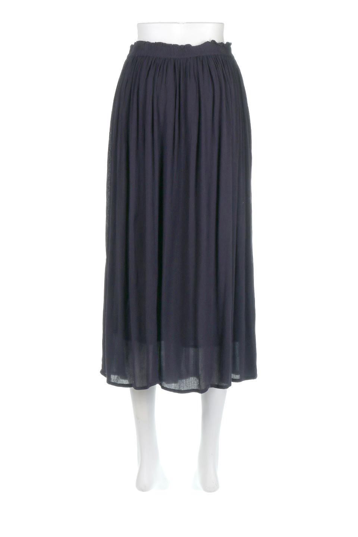 ShinyGatheredMidiSkirtクレープレーヨン・ギャザースカート大人カジュアルに最適な海外ファッションのothers(その他インポートアイテム)のボトムやスカート。レーヨン混で薄くてなめらかな肌触り、微光沢のある生地感のスカート。クレープのような薄い生地がふんわり空気感のあるボリュームを演出します。/main-14