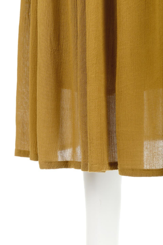 ShinyGatheredMidiSkirtクレープレーヨン・ギャザースカート大人カジュアルに最適な海外ファッションのothers(その他インポートアイテム)のボトムやスカート。レーヨン混で薄くてなめらかな肌触り、微光沢のある生地感のスカート。クレープのような薄い生地がふんわり空気感のあるボリュームを演出します。/main-17