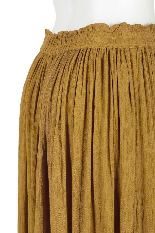 ShinyGatheredMidiSkirtクレープレーヨン・ギャザースカート大人カジュアルに最適な海外ファッションのothers(その他インポートアイテム)のボトムやスカート。レーヨン混で薄くてなめらかな肌触り、微光沢のある生地感のスカート。クレープのような薄い生地がふんわり空気感のあるボリュームを演出します。/main-20