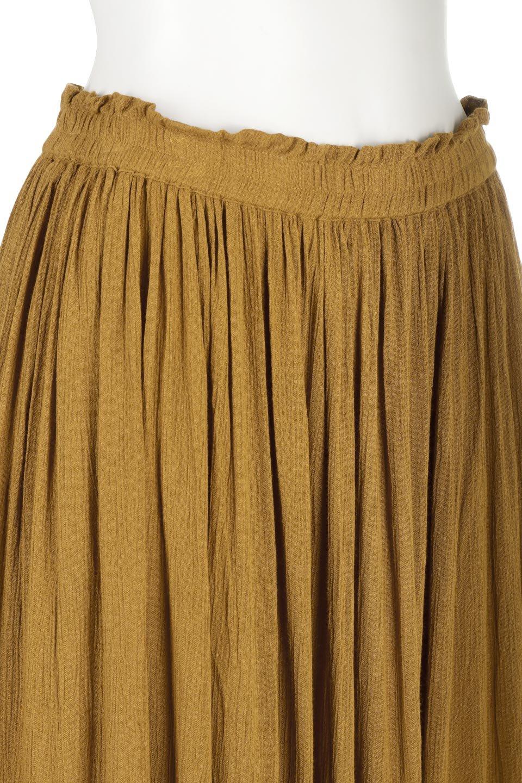 ShinyGatheredMidiSkirtクレープレーヨン・ギャザースカート大人カジュアルに最適な海外ファッションのothers(その他インポートアイテム)のボトムやスカート。レーヨン混で薄くてなめらかな肌触り、微光沢のある生地感のスカート。クレープのような薄い生地がふんわり空気感のあるボリュームを演出します。/main-21