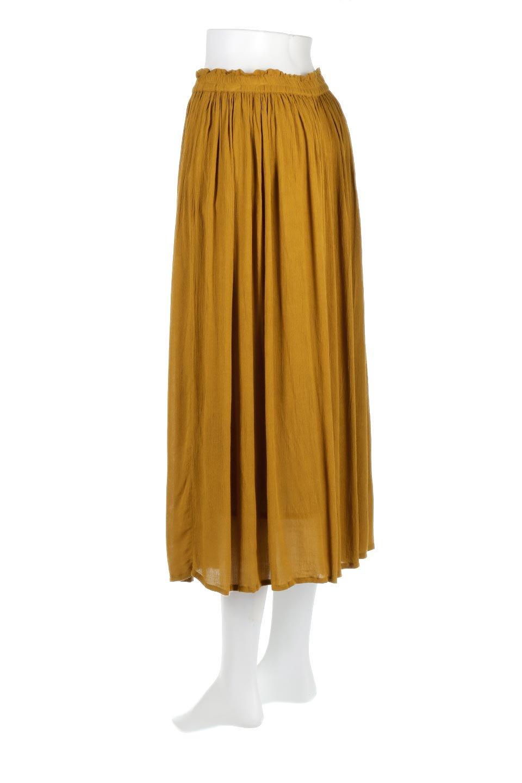 ShinyGatheredMidiSkirtクレープレーヨン・ギャザースカート大人カジュアルに最適な海外ファッションのothers(その他インポートアイテム)のボトムやスカート。レーヨン混で薄くてなめらかな肌触り、微光沢のある生地感のスカート。クレープのような薄い生地がふんわり空気感のあるボリュームを演出します。/main-3