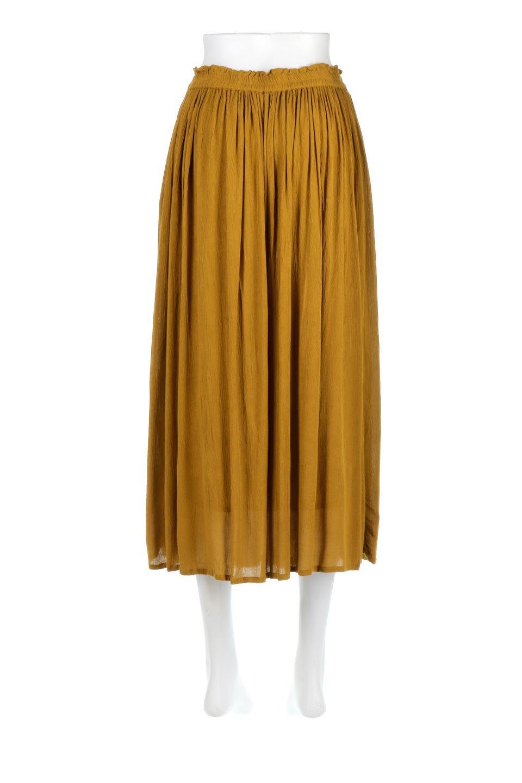 ShinyGatheredMidiSkirtクレープレーヨン・ギャザースカート大人カジュアルに最適な海外ファッションのothers(その他インポートアイテム)のボトムやスカート。レーヨン混で薄くてなめらかな肌触り、微光沢のある生地感のスカート。クレープのような薄い生地がふんわり空気感のあるボリュームを演出します。/main-4