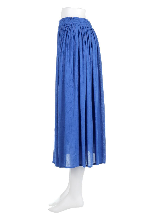 ShinyGatheredMidiSkirtクレープレーヨン・ギャザースカート大人カジュアルに最適な海外ファッションのothers(その他インポートアイテム)のボトムやスカート。レーヨン混で薄くてなめらかな肌触り、微光沢のある生地感のスカート。クレープのような薄い生地がふんわり空気感のあるボリュームを演出します。/main-7