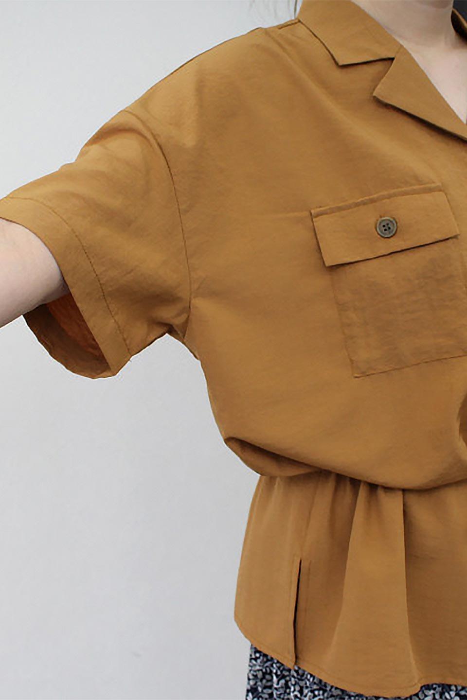WaistTiedSafariBlouseドロスト付き・サファリブラウス大人カジュアルに最適な海外ファッションのothers(その他インポートアイテム)のトップスやシャツ・ブラウス。人気のサファリテイストをソフトブロード生地で優しい印象に仕上げたブラウス。ウエストのドロストでのブラウジングで様々なコーデが楽しめます。/main-25