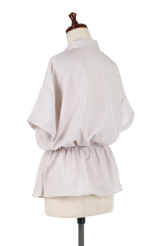 WaistTiedSafariBlouseドロスト付き・サファリブラウス大人カジュアルに最適な海外ファッションのothers(その他インポートアイテム)のトップスやシャツ・ブラウス。人気のサファリテイストをソフトブロード生地で優しい印象に仕上げたブラウス。ウエストのドロストでのブラウジングで様々なコーデが楽しめます。/main-8