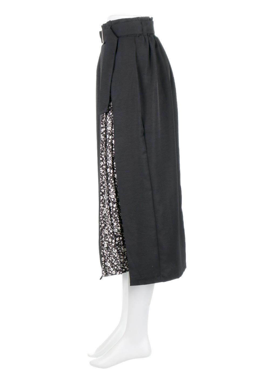 FloralPleatedPanelLongSkirtsプリーツ切り替え・ロングスカート大人カジュアルに最適な海外ファッションのothers(その他インポートアイテム)のボトムやスカート。人気のプリーツ切り替えタイプのロングスカート。チラ見せのプリーツ部分は同色系の小花柄。/main-11
