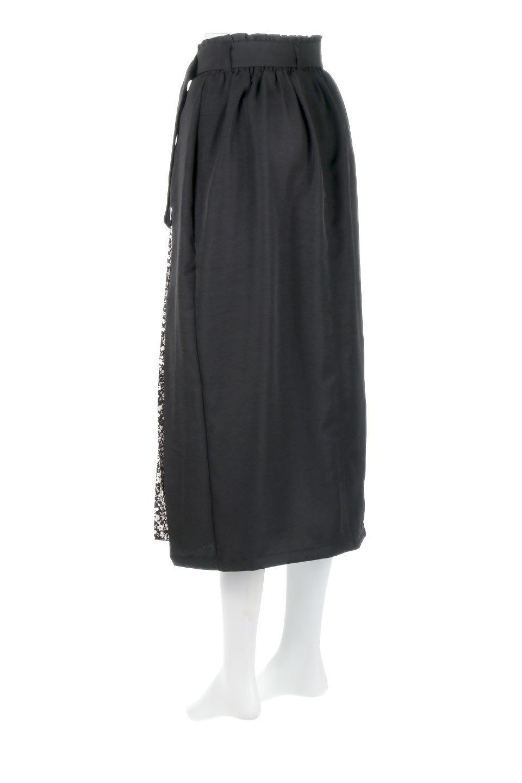 FloralPleatedPanelLongSkirtsプリーツ切り替え・ロングスカート大人カジュアルに最適な海外ファッションのothers(その他インポートアイテム)のボトムやスカート。人気のプリーツ切り替えタイプのロングスカート。チラ見せのプリーツ部分は同色系の小花柄。/main-12
