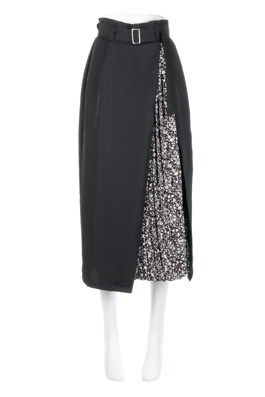 FloralPleatedPanelLongSkirtsプリーツ切り替え・ロングスカート大人カジュアルに最適な海外ファッションのothers(その他インポートアイテム)のボトムやスカート。人気のプリーツ切り替えタイプのロングスカート。チラ見せのプリーツ部分は同色系の小花柄。/main-14
