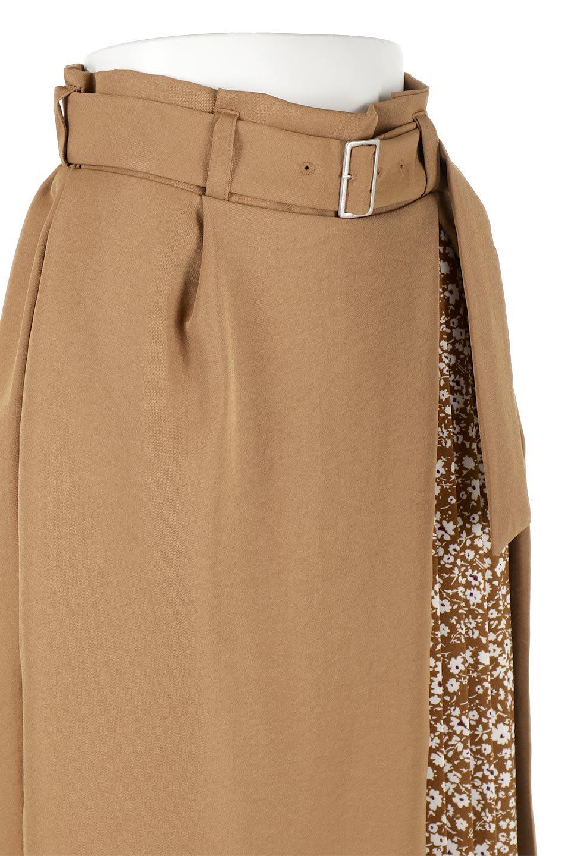 FloralPleatedPanelLongSkirtsプリーツ切り替え・ロングスカート大人カジュアルに最適な海外ファッションのothers(その他インポートアイテム)のボトムやスカート。人気のプリーツ切り替えタイプのロングスカート。チラ見せのプリーツ部分は同色系の小花柄。/main-16