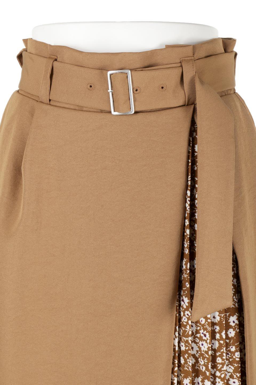 FloralPleatedPanelLongSkirtsプリーツ切り替え・ロングスカート大人カジュアルに最適な海外ファッションのothers(その他インポートアイテム)のボトムやスカート。人気のプリーツ切り替えタイプのロングスカート。チラ見せのプリーツ部分は同色系の小花柄。/main-17