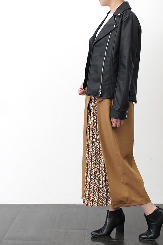 FloralPleatedPanelLongSkirtsプリーツ切り替え・ロングスカート大人カジュアルに最適な海外ファッションのothers(その他インポートアイテム)のボトムやスカート。人気のプリーツ切り替えタイプのロングスカート。チラ見せのプリーツ部分は同色系の小花柄。/main-25