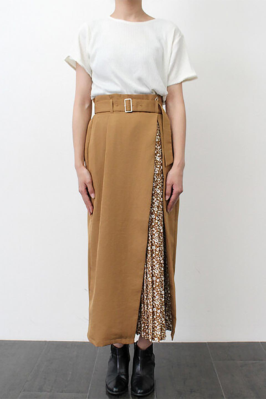 FloralPleatedPanelLongSkirtsプリーツ切り替え・ロングスカート大人カジュアルに最適な海外ファッションのothers(その他インポートアイテム)のボトムやスカート。人気のプリーツ切り替えタイプのロングスカート。チラ見せのプリーツ部分は同色系の小花柄。/main-27