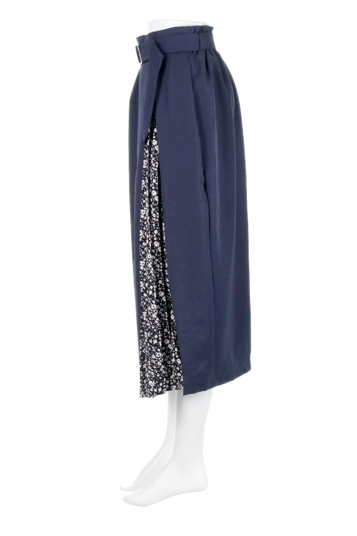 FloralPleatedPanelLongSkirtsプリーツ切り替え・ロングスカート大人カジュアルに最適な海外ファッションのothers(その他インポートアイテム)のボトムやスカート。人気のプリーツ切り替えタイプのロングスカート。チラ見せのプリーツ部分は同色系の小花柄。/main-6
