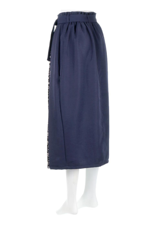 FloralPleatedPanelLongSkirtsプリーツ切り替え・ロングスカート大人カジュアルに最適な海外ファッションのothers(その他インポートアイテム)のボトムやスカート。人気のプリーツ切り替えタイプのロングスカート。チラ見せのプリーツ部分は同色系の小花柄。/main-7