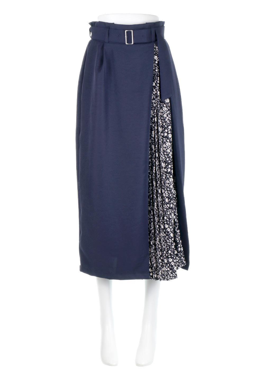 FloralPleatedPanelLongSkirtsプリーツ切り替え・ロングスカート大人カジュアルに最適な海外ファッションのothers(その他インポートアイテム)のボトムやスカート。人気のプリーツ切り替えタイプのロングスカート。チラ見せのプリーツ部分は同色系の小花柄。/main-9