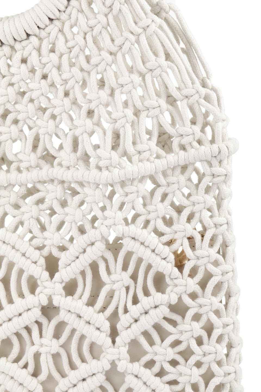 meliebiancoのNatalie(Bone)マクラメ編み・サマーハンドバッグ/海外ファッション好きにオススメのインポートバッグとかばん、MelieBianco(メリービアンコ)のバッグやハンドバッグ。ざっくり感のあるマクラメ編みが涼し気なリングハンドル・ハンドバッグ。リング状の持ち手は天然のバンブー(竹)でナチュラルな雰囲気を楽しめます。/main-8