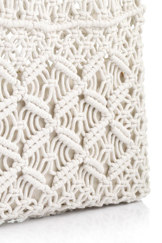 meliebiancoのNatalie(Bone)マクラメ編み・サマーハンドバッグ/海外ファッション好きにオススメのインポートバッグとかばん、MelieBianco(メリービアンコ)のバッグやハンドバッグ。ざっくり感のあるマクラメ編みが涼し気なリングハンドル・ハンドバッグ。リング状の持ち手は天然のバンブー(竹)でナチュラルな雰囲気を楽しめます。/main-9