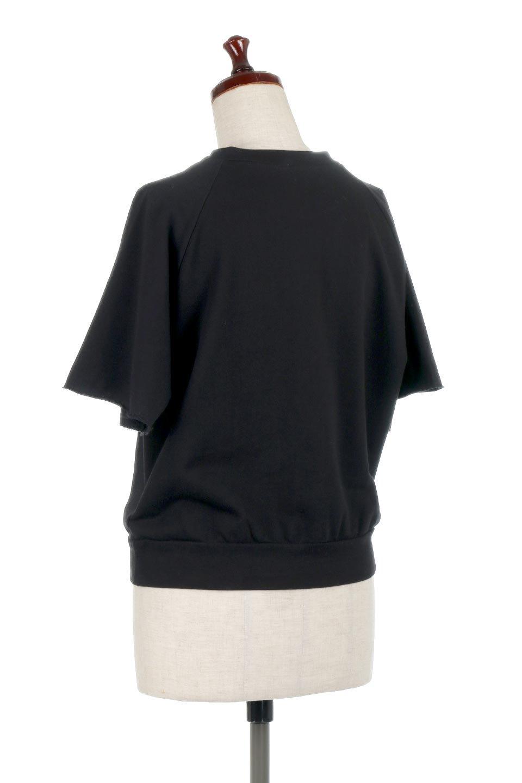LightWightSweatTopミニ裏毛・半袖トップス大人カジュアルに最適な海外ファッションのothers(その他インポートアイテム)のトップスやカットソー。シンプルで着回しやすさで大人気のミニ裏毛半袖プルオーバー。オーバーサイズとラグランスリーブでリラックス感全開のトップスです。/main-18
