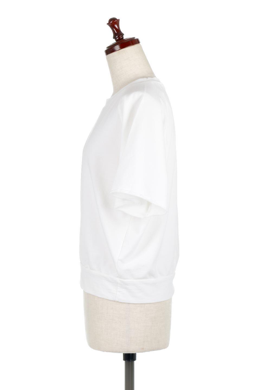 LightWightSweatTopミニ裏毛・半袖トップス大人カジュアルに最適な海外ファッションのothers(その他インポートアイテム)のトップスやカットソー。シンプルで着回しやすさで大人気のミニ裏毛半袖プルオーバー。オーバーサイズとラグランスリーブでリラックス感全開のトップスです。/main-7