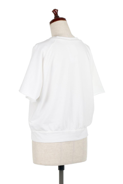 LightWightSweatTopミニ裏毛・半袖トップス大人カジュアルに最適な海外ファッションのothers(その他インポートアイテム)のトップスやカットソー。シンプルで着回しやすさで大人気のミニ裏毛半袖プルオーバー。オーバーサイズとラグランスリーブでリラックス感全開のトップスです。/main-8