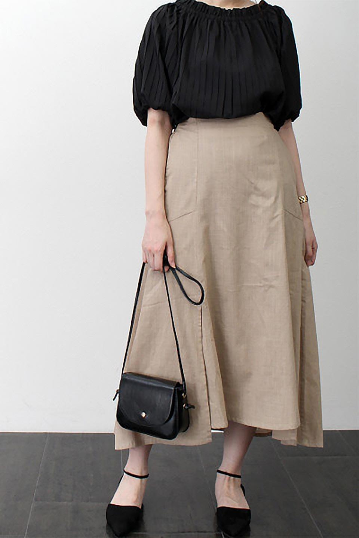 SlubGauzeMermaidSkirtスラブガーゼ・マーメイドスカート大人カジュアルに最適な海外ファッションのothers(その他インポートアイテム)のボトムやスカート。夏に最適なスラブガーゼ素材のスカート。人気のあるカラーバリエーションで、コーデもしやすいシルエット。/main-27