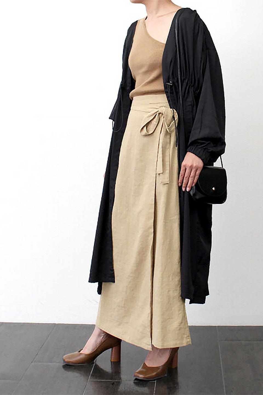 SlubGauzeWrapAroundSkirtスラブガーゼ・ラップスカート大人カジュアルに最適な海外ファッションのothers(その他インポートアイテム)のボトムやスカート。涼し気なスラブガーゼ素材のロング丈ラップスカート。厚い日でも快適に楽しめるマキシ丈のスカートです。/main-16