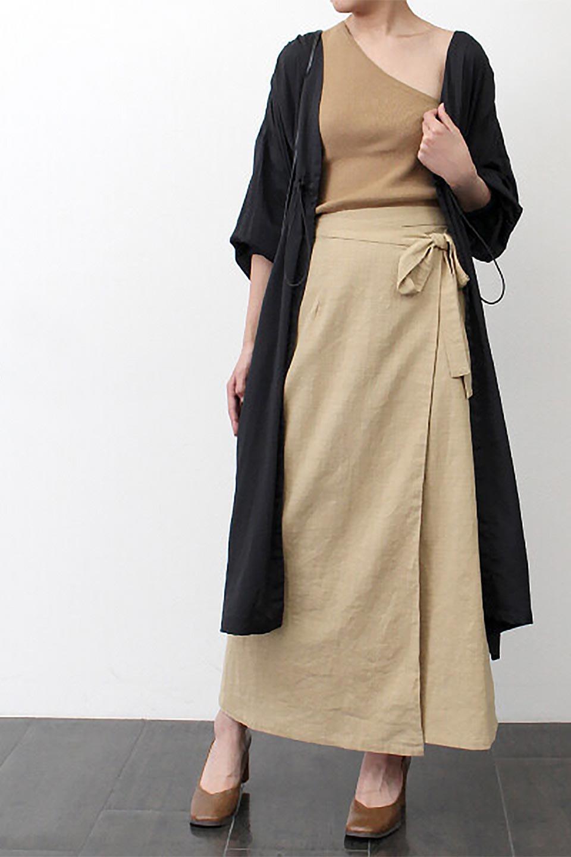 SlubGauzeWrapAroundSkirtスラブガーゼ・ラップスカート大人カジュアルに最適な海外ファッションのothers(その他インポートアイテム)のボトムやスカート。涼し気なスラブガーゼ素材のロング丈ラップスカート。厚い日でも快適に楽しめるマキシ丈のスカートです。/main-17