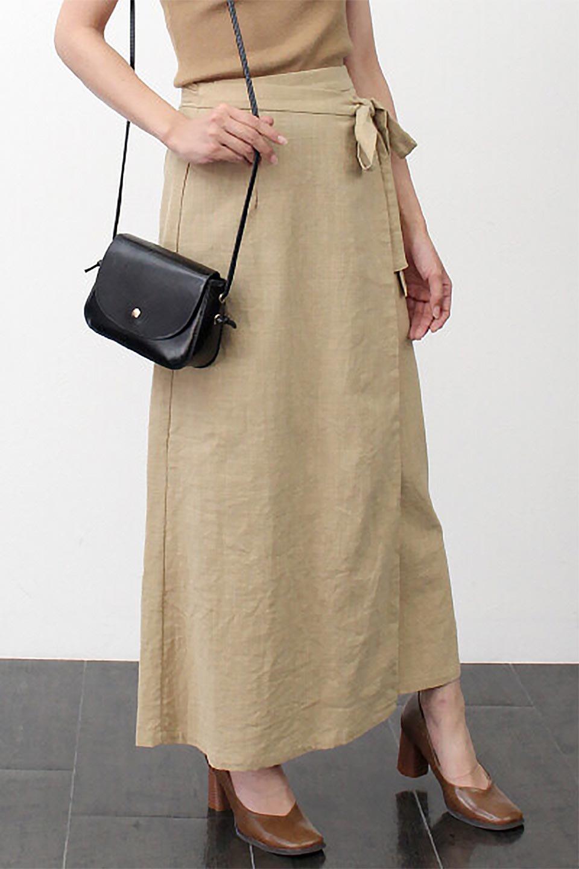 SlubGauzeWrapAroundSkirtスラブガーゼ・ラップスカート大人カジュアルに最適な海外ファッションのothers(その他インポートアイテム)のボトムやスカート。涼し気なスラブガーゼ素材のロング丈ラップスカート。厚い日でも快適に楽しめるマキシ丈のスカートです。/main-18