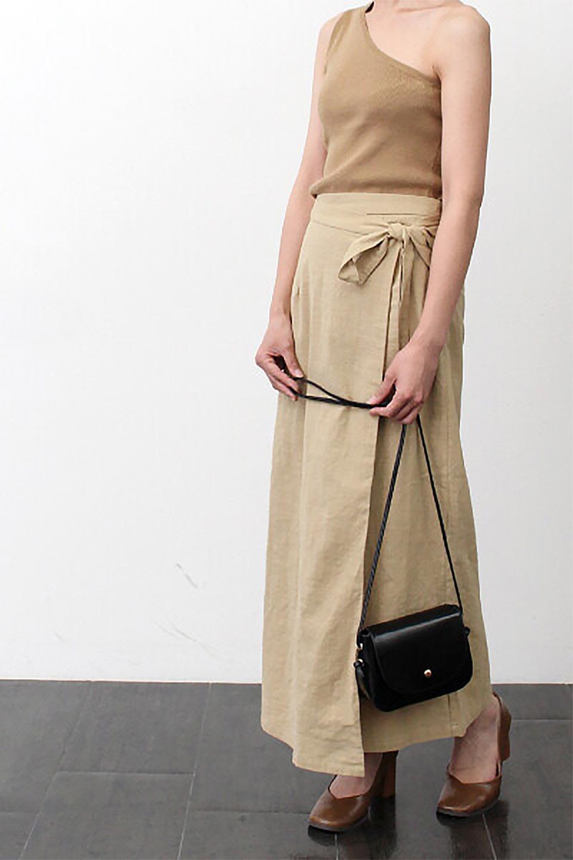 SlubGauzeWrapAroundSkirtスラブガーゼ・ラップスカート大人カジュアルに最適な海外ファッションのothers(その他インポートアイテム)のボトムやスカート。涼し気なスラブガーゼ素材のロング丈ラップスカート。厚い日でも快適に楽しめるマキシ丈のスカートです。/main-19