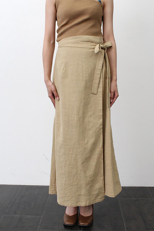 SlubGauzeWrapAroundSkirtスラブガーゼ・ラップスカート大人カジュアルに最適な海外ファッションのothers(その他インポートアイテム)のボトムやスカート。涼し気なスラブガーゼ素材のロング丈ラップスカート。厚い日でも快適に楽しめるマキシ丈のスカートです。/main-20