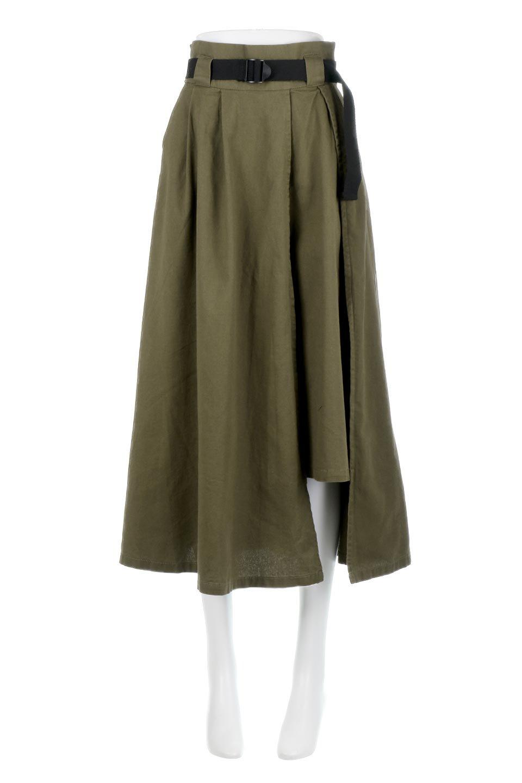 PaneledFlareSkirtw/WeavingBeltベルト付き・パネルフレアスカート大人カジュアルに最適な海外ファッションのothers(その他インポートアイテム)のボトムやスカート。フロントの切り替えがアクセントのボリューム感のあるフレアスカート。付属したウェービングベルトでラフでカジュアルな雰囲気です。/main-10