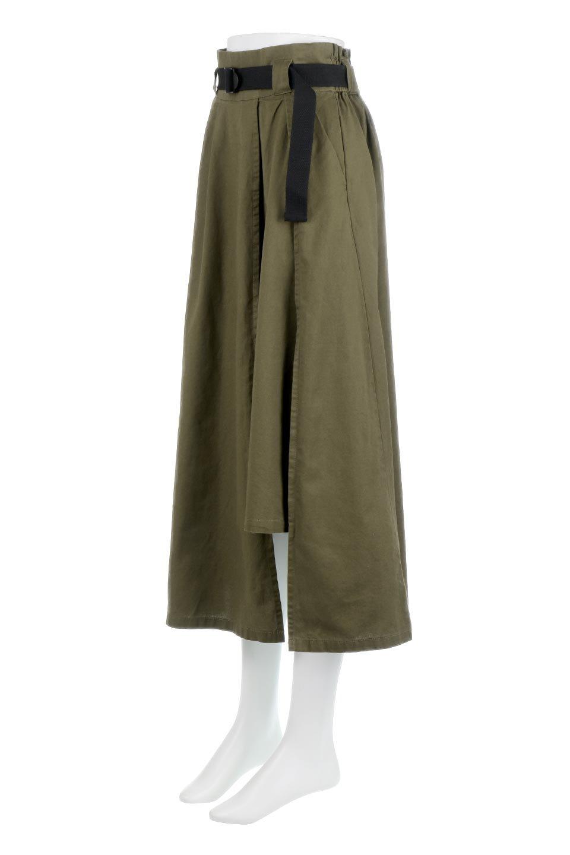 PaneledFlareSkirtw/WeavingBeltベルト付き・パネルフレアスカート大人カジュアルに最適な海外ファッションのothers(その他インポートアイテム)のボトムやスカート。フロントの切り替えがアクセントのボリューム感のあるフレアスカート。付属したウェービングベルトでラフでカジュアルな雰囲気です。/main-11