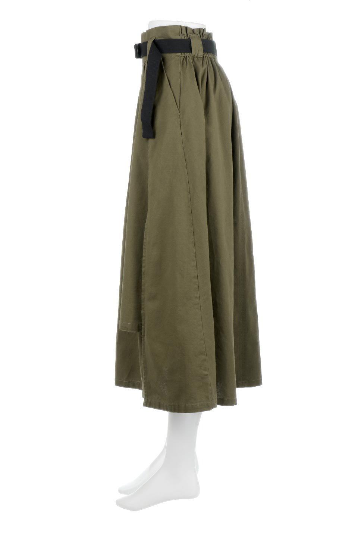PaneledFlareSkirtw/WeavingBeltベルト付き・パネルフレアスカート大人カジュアルに最適な海外ファッションのothers(その他インポートアイテム)のボトムやスカート。フロントの切り替えがアクセントのボリューム感のあるフレアスカート。付属したウェービングベルトでラフでカジュアルな雰囲気です。/main-12