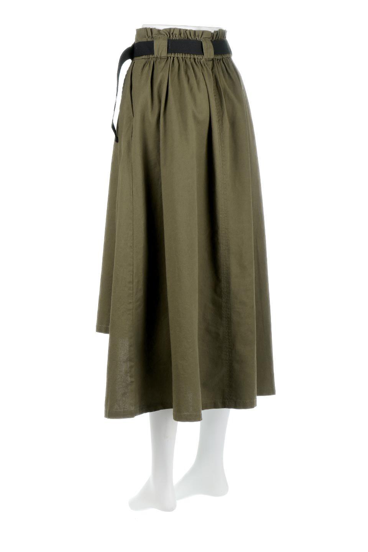 PaneledFlareSkirtw/WeavingBeltベルト付き・パネルフレアスカート大人カジュアルに最適な海外ファッションのothers(その他インポートアイテム)のボトムやスカート。フロントの切り替えがアクセントのボリューム感のあるフレアスカート。付属したウェービングベルトでラフでカジュアルな雰囲気です。/main-13