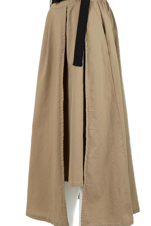 PaneledFlareSkirtw/WeavingBeltベルト付き・パネルフレアスカート大人カジュアルに最適な海外ファッションのothers(その他インポートアイテム)のボトムやスカート。フロントの切り替えがアクセントのボリューム感のあるフレアスカート。付属したウェービングベルトでラフでカジュアルな雰囲気です。/main-22