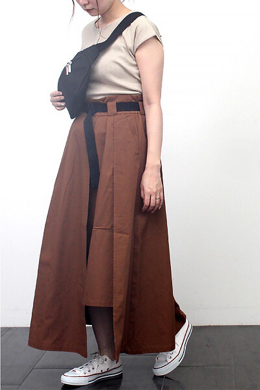 PaneledFlareSkirtw/WeavingBeltベルト付き・パネルフレアスカート大人カジュアルに最適な海外ファッションのothers(その他インポートアイテム)のボトムやスカート。フロントの切り替えがアクセントのボリューム感のあるフレアスカート。付属したウェービングベルトでラフでカジュアルな雰囲気です。/main-26