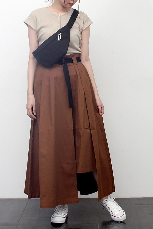 PaneledFlareSkirtw/WeavingBeltベルト付き・パネルフレアスカート大人カジュアルに最適な海外ファッションのothers(その他インポートアイテム)のボトムやスカート。フロントの切り替えがアクセントのボリューム感のあるフレアスカート。付属したウェービングベルトでラフでカジュアルな雰囲気です。/main-27