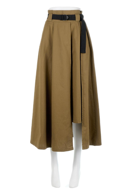 PaneledFlareSkirtw/WeavingBeltベルト付き・パネルフレアスカート大人カジュアルに最適な海外ファッションのothers(その他インポートアイテム)のボトムやスカート。フロントの切り替えがアクセントのボリューム感のあるフレアスカート。付属したウェービングベルトでラフでカジュアルな雰囲気です。/main-5
