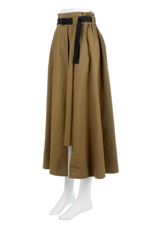 PaneledFlareSkirtw/WeavingBeltベルト付き・パネルフレアスカート大人カジュアルに最適な海外ファッションのothers(その他インポートアイテム)のボトムやスカート。フロントの切り替えがアクセントのボリューム感のあるフレアスカート。付属したウェービングベルトでラフでカジュアルな雰囲気です。/main-6