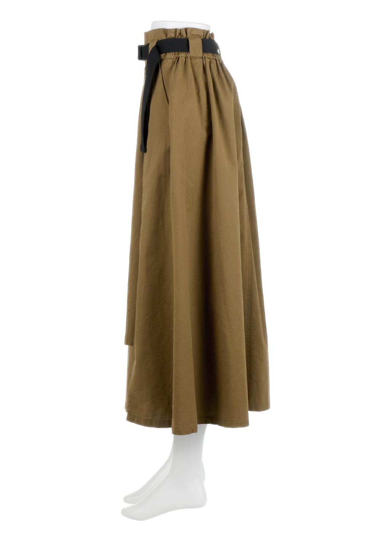 PaneledFlareSkirtw/WeavingBeltベルト付き・パネルフレアスカート大人カジュアルに最適な海外ファッションのothers(その他インポートアイテム)のボトムやスカート。フロントの切り替えがアクセントのボリューム感のあるフレアスカート。付属したウェービングベルトでラフでカジュアルな雰囲気です。/main-7